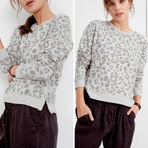 Rails Grey Leopard Pullover